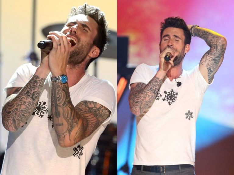 Adam Levine's Tattoos Brother and House